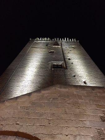 Leverano, İtalya: Vista della torre dalla porta principale