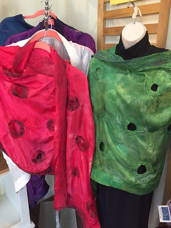Kittery, ME: Hand made nuno felted wraps