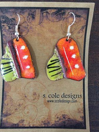 Kittery, ME: Lightweight enameled earrings