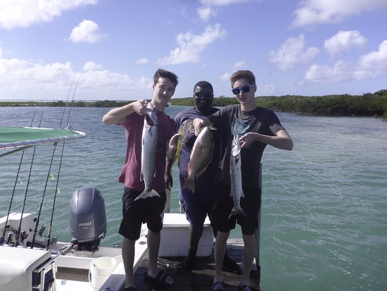 North Caicos: One Stop Fishing - some of our catch