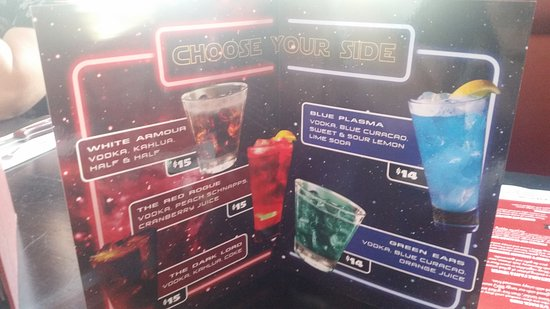 Marion, Australia: The Star Wars cocktail menu