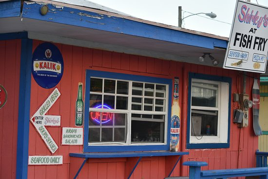 Shirley's at the Fish Fry: Look for the modest red shack then be prepared for food and cocktails that belie the modest exte