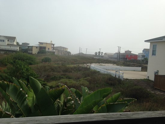 Beachcomber: View from the balcony. It was overcast and foggy, so you couln't see the beach this day