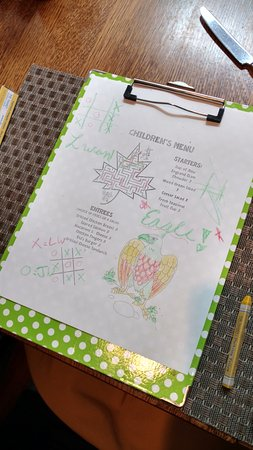 Red Rooster at The Woodstock Inn and Resort: Children's Lunch Menu (crayons included)