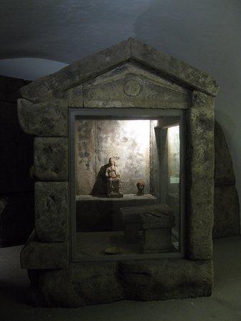 Vetralla, Italie : ricostruzione al museo Albornoz