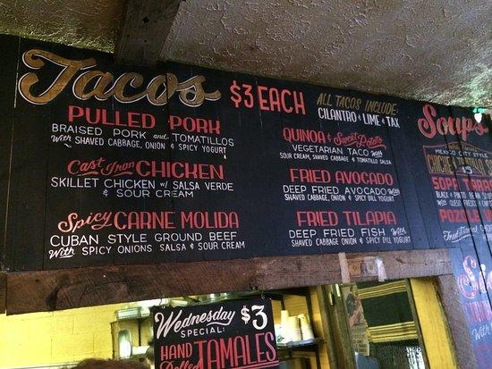 Mas Tacos Por Favor: Menu