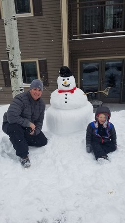 Condo provides tools to help build the perfect snowman.
