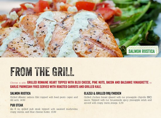 Smoky Mountain Pizzeria Grill: From the Grill: Try our delicious Grilled Salmon Rustica, Pub Steak or our Glazed BBQ Chicken!