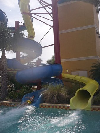 Vacation Villas at Fantasy World II: racing down the water slide!