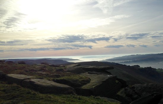 Hathersage, UK: View from the top of Stanage edge.