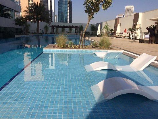 warm water pool with jacuzzi picture of damac maison canal views dubai tripadvisor. Black Bedroom Furniture Sets. Home Design Ideas
