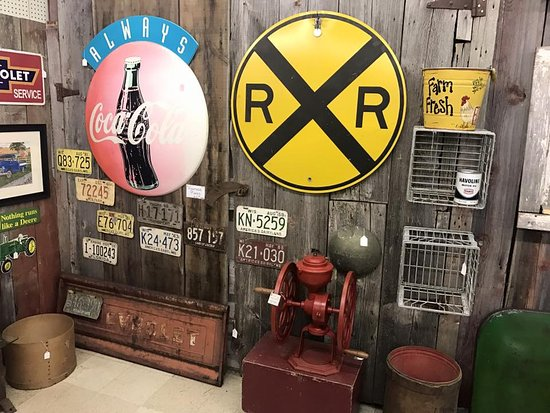 Waterford, WI: Vintage car realted items.