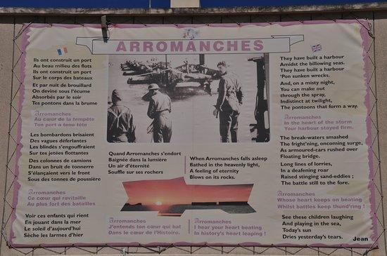 Arromanches-les-Bains, Francia: D-day information board
