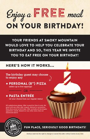 Ketchum, ID: Enjoy a FREE meal on your birthday!