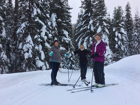 Essex, MT: The cross country skiing trails are beautiful. The snow-covered lodgepole pines are spectacular.