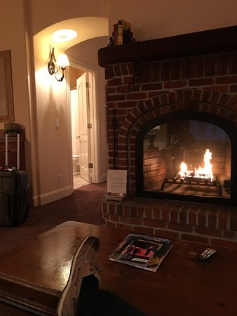 Vineyard Country Inn: Fireplace