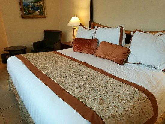 Toscana Inn Hotel: comfortable king size bed