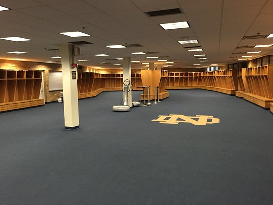Notre Dame Stadium: Home locker room