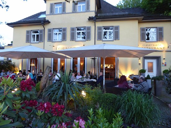 Kressbronn, Tyskland: Abendstimmung auf Terrasse