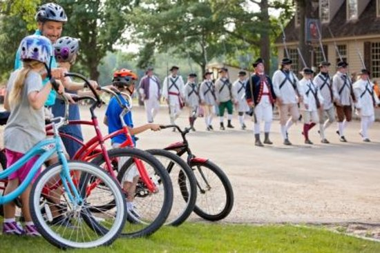 Bicycling in Colonial Williamsburg