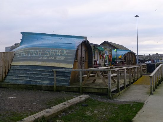 Fish Shack Outside On The Quayside