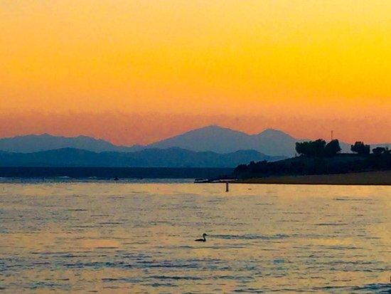 Lake Perris at sunset. August 2016