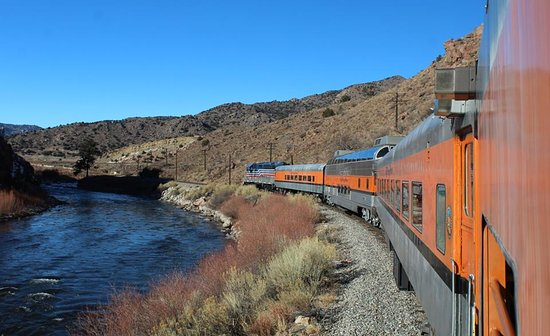 Royal Gorge Route Railroad: View from the open air car