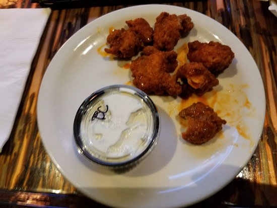 Garner, NC: Order of 6 Boneless Buffalo Wings. They came out cold and didn't have much of a presentation.