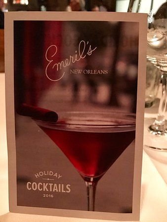 Emeril's New Orleans: Holiday Cocktail Menu