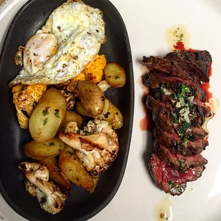 Little Silver, NJ: Steak and eggs for lunch