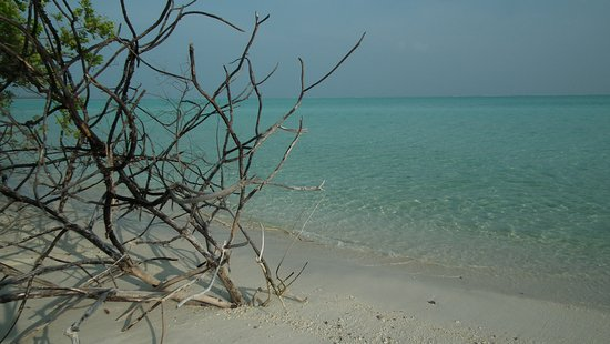 Scorcio di spiaggia a Bangaram