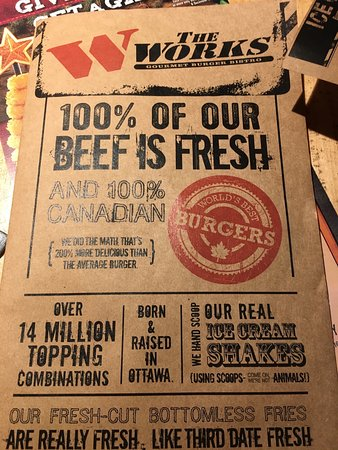The Works: Menu Cover!