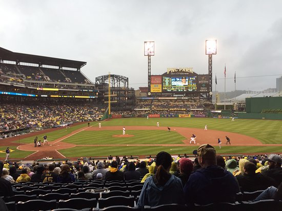PNC Park: First base line during the game.