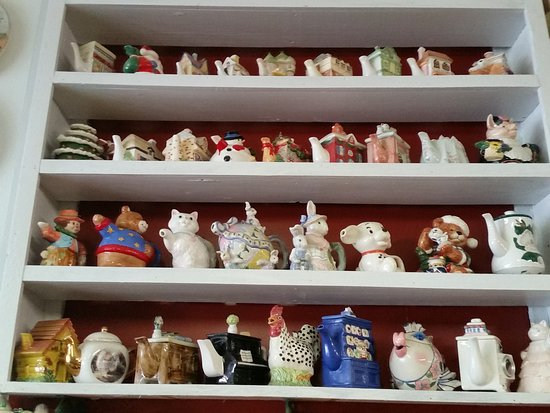 Bailey, NC: Amazing collection of over 3,000 teapots and delicious home cooked food. Worth the detour.