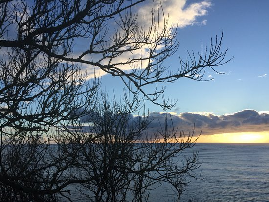 Ilwaco, Etat de Washington : Sunset view of Cape Disappointment