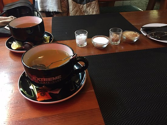 Zalaegerszeg, Hungary: Tea mugs are huge