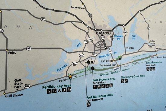 Pensacola Beach Hotels Map 2018 World