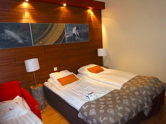 Lapland Hotel Riekonlinna: view or superior room.. not much room with a fold down bed.