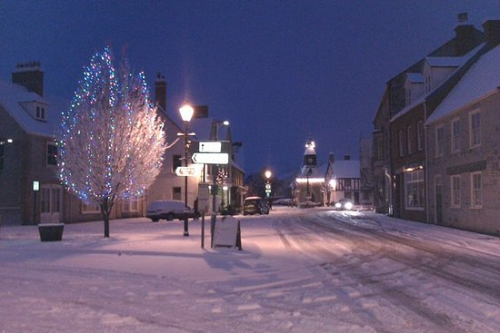 Mere, UK: A white Christmas.