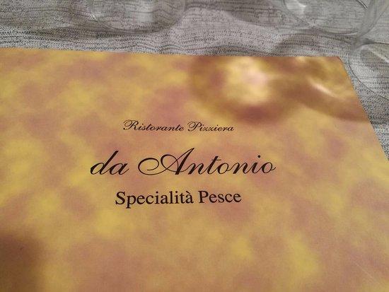 Lista Menu Picture Of Ristorante Da Antonio Settimo Milanese