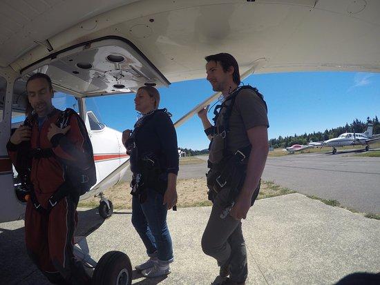 Qualicum Beach, Canada: training at the plane