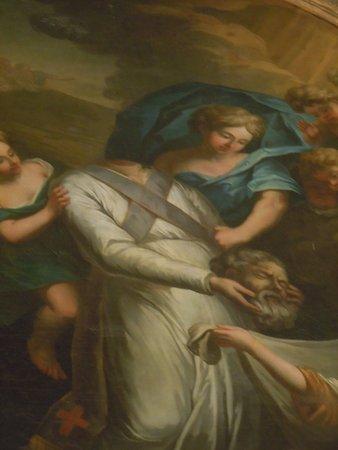 Le Thillay, France: Détail du tableau du martyr Saint Denys