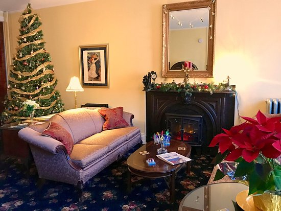 The living room at the Times House, Jim Thorpe, PA at Christmas 2016 — in Jim Thorpe, Pennsylvan