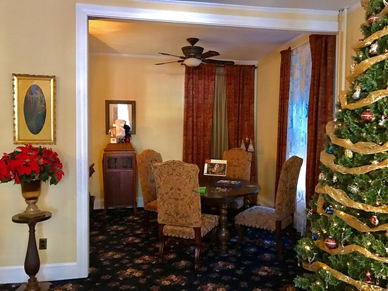 The common area at the Times House, Jim Thorpe, PA during Christmas 2016 — in Jim Thorpe, Penn.
