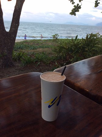 Holloways Beach, Australia: A Shake with a view.