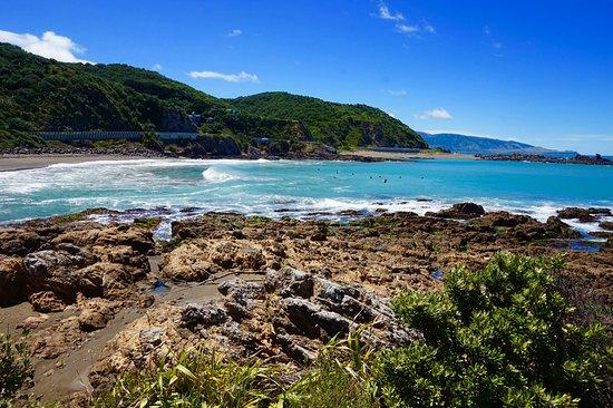 Island Bay: baie des surfeurs