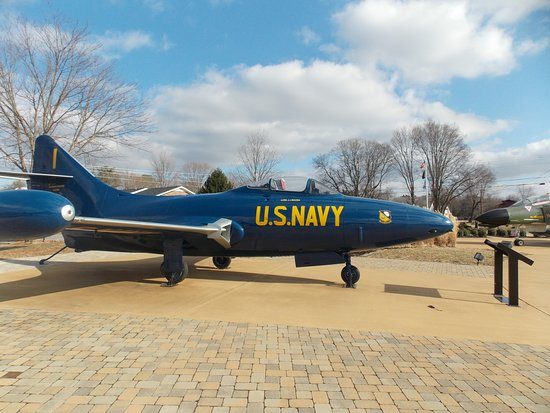 Bowling Green, KY: The US Navy Blue Angels F9F Panther on display at the park