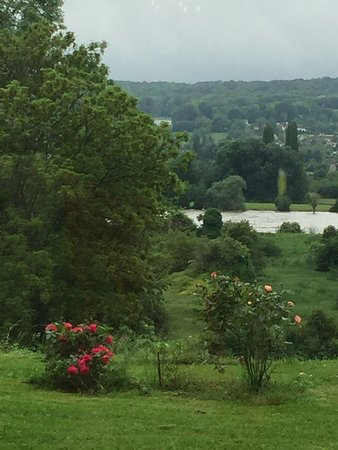 Pressagny L'Orgueilleux, France: view of the river from the Chateau (massive flooding)
