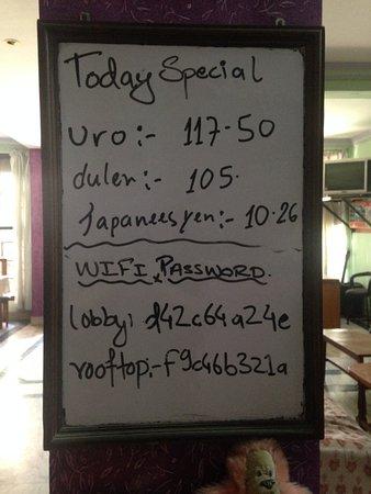 Hotel Pokhara Peace: Wifi password