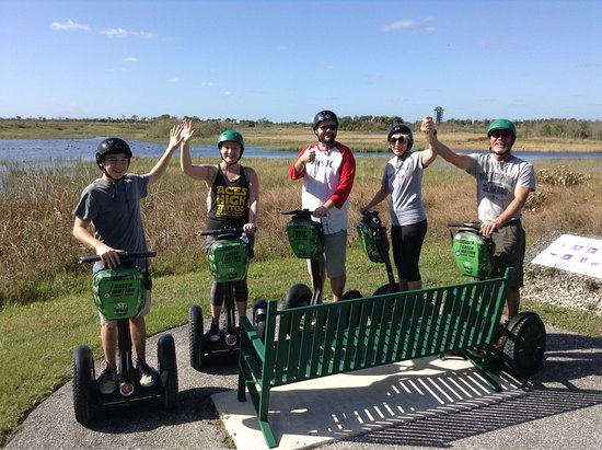 Wellington, FL: This was our second tour with Andrew at Green Motion Segway. He is very passionate about protect